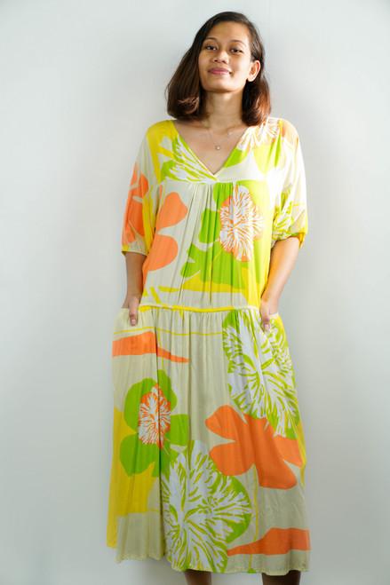 TIARE TEITI Polynesian Dress 2XLARGE