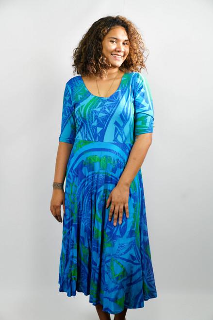 LAYBY KALOLO DRESS BLUE - SZ 16