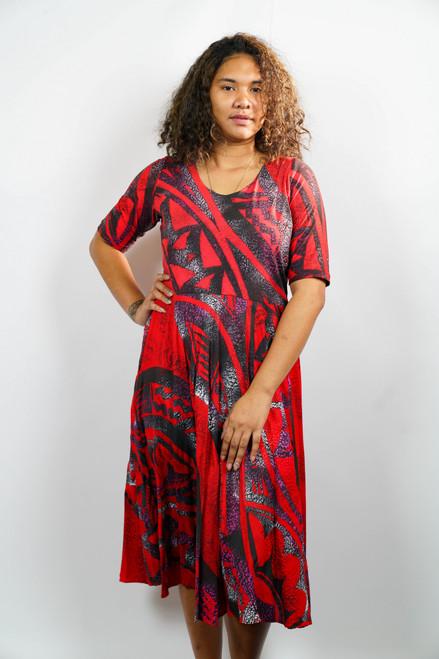 KALOLO DRESS RED - SZ 14