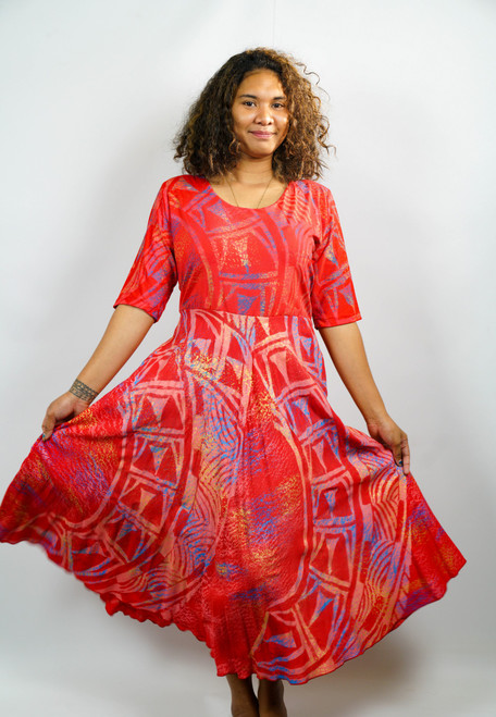 Samoan Dress PE'A PRINTS - SZ 18