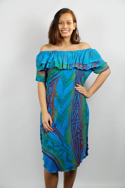 Samoan Dress DRESS w/FRILLS - SZ 16