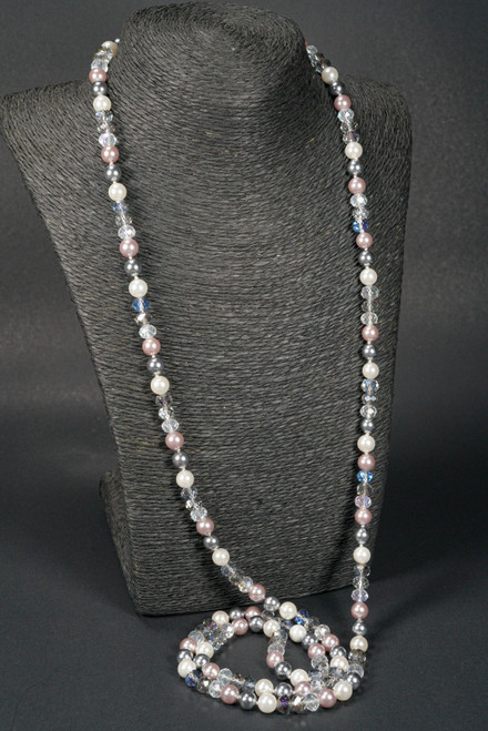 """WEBJP23 CRYS PEARL STRAND NECK 64"""""""