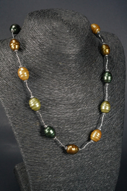 """WEBJP77 SHELL SILVER NECKLACE 18"""""""