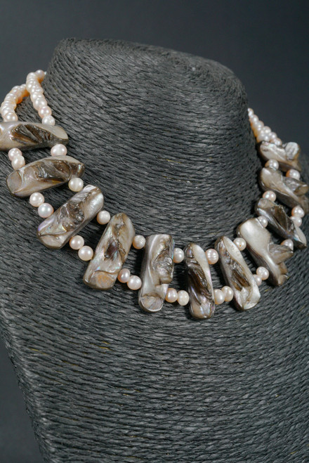 WEBJP141 COLLAR MABE PEARL NECKLACE 18""