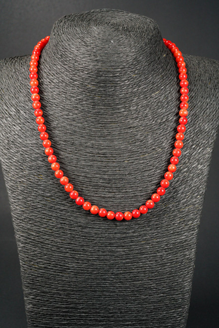WEBJC04 RED CORAL NECKLACE