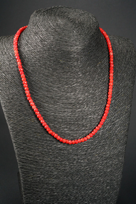 WEBJC05 RED CORAL NECKLACE