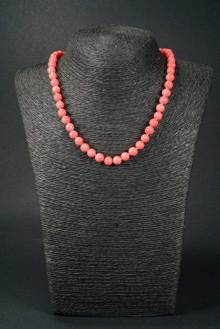 WEBJC10 PINK CORAL NECKLACE