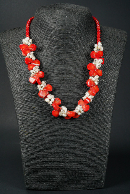 WEBJC12 RED CORAL W/PEARL NECK