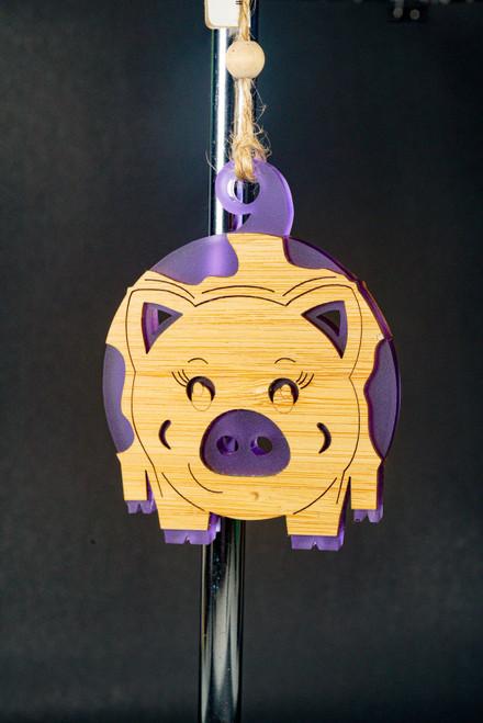 BAUBLE ORNAMENT PIGGY PUR
