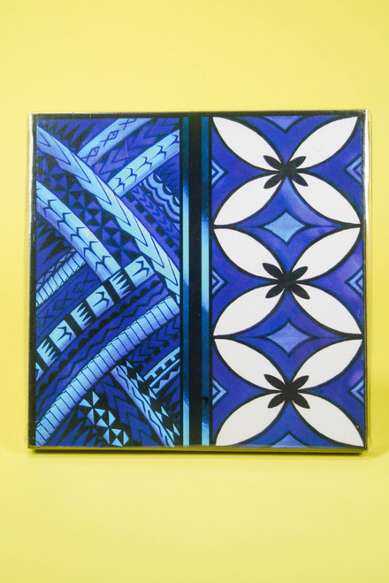 SAMOAN ART S BLUE TAPA
