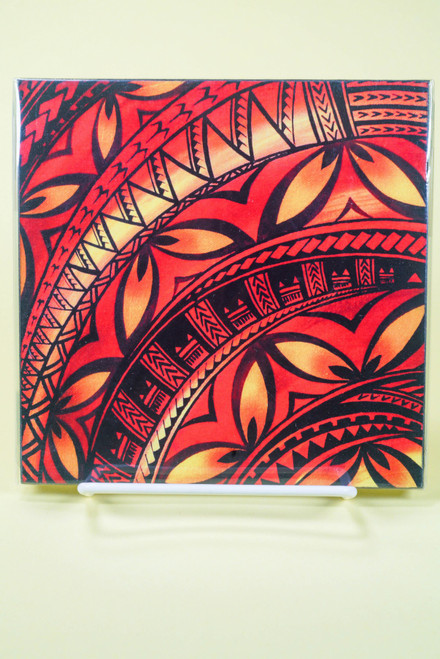 SAMOAN ART S TATTOO W FLOWER