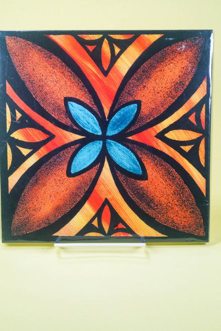 SAMOAN ART M FLOWER 1