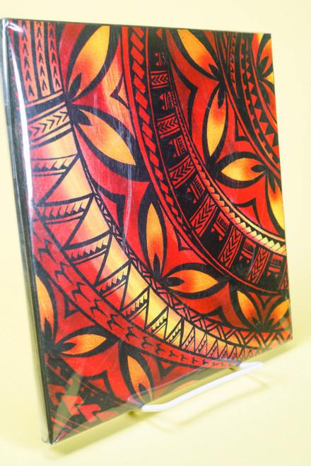 SAMOAN ART M FLOWER W TATOOT