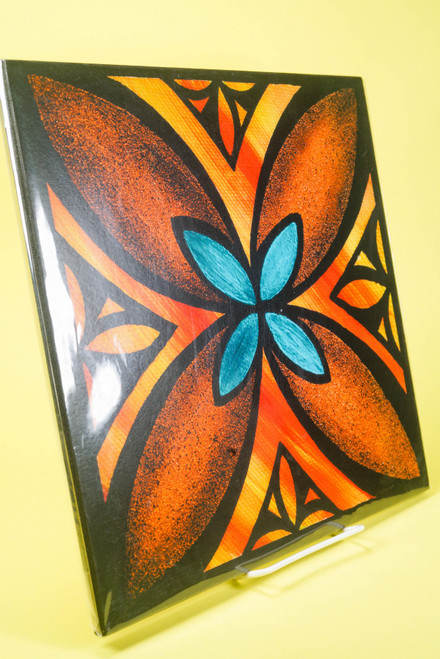 SAMOAN ART L FLOWER 1