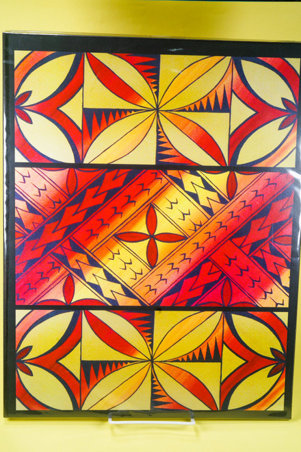 SAMOAN ART L REC YELLOW TAPA