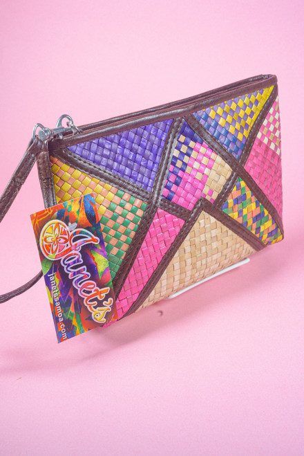 PATCH WOVEN CLUTCH COLORFUL