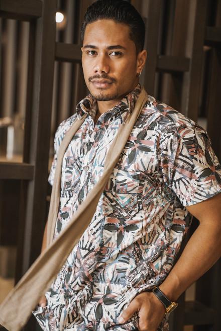 ALII Samoan Shirts SHIFTED - SAND