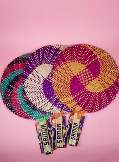 Samoan Fan Multi Color Set of 3