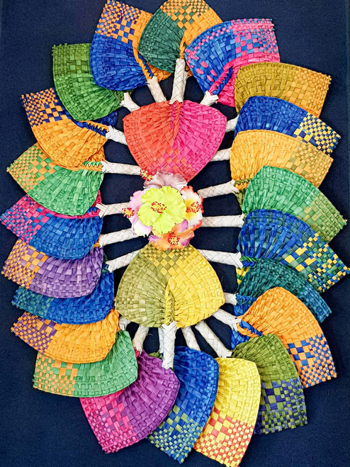 Samoan Wedding Fans COLOR SET of 24