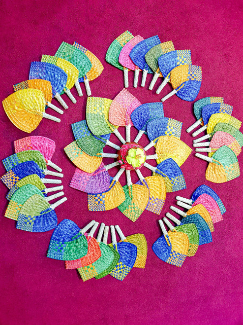 Samoan Wedding Fans COLOR SET of 48