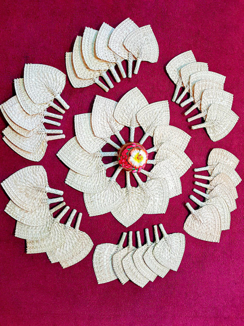 Samoan Wedding Fans PLAIN SET of 48
