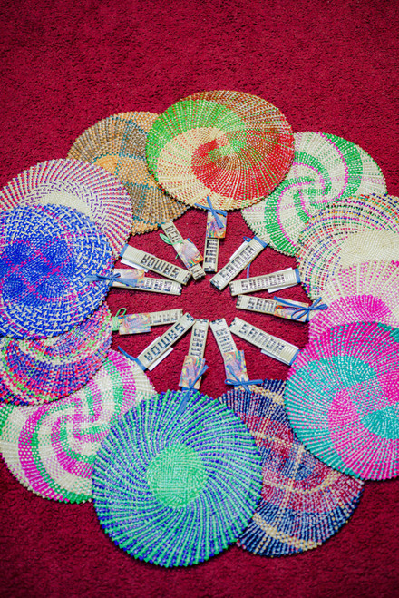Samoan Fan Multi Color Set of 12