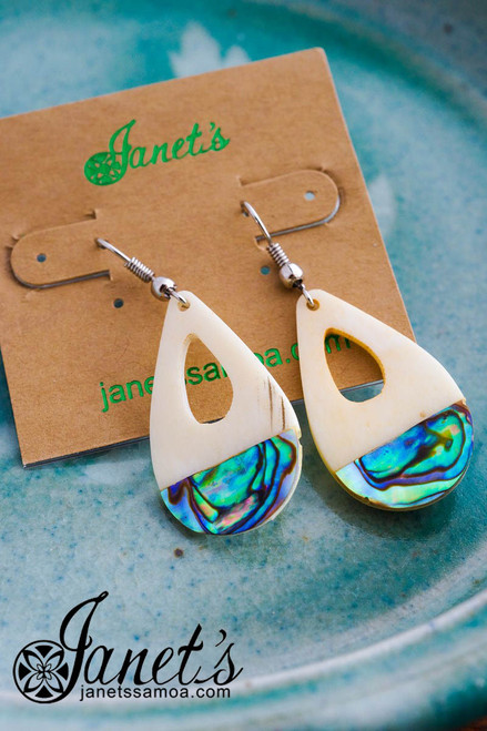 Bone and Paua Earring JIOE01