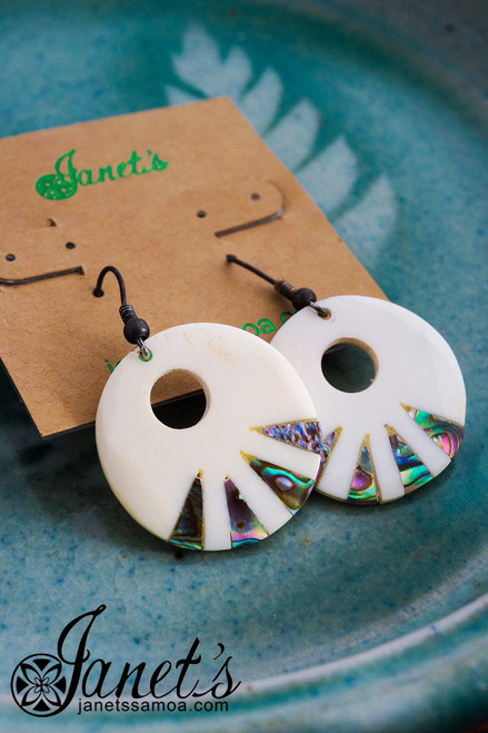 Bone and Paua Earring JIOE02