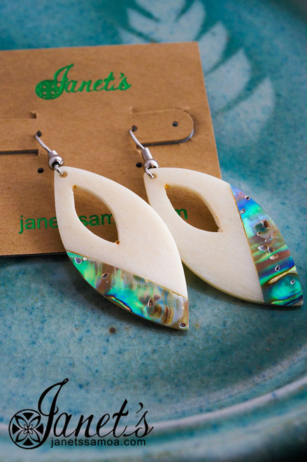 Bone and Paua Earring JIOE09