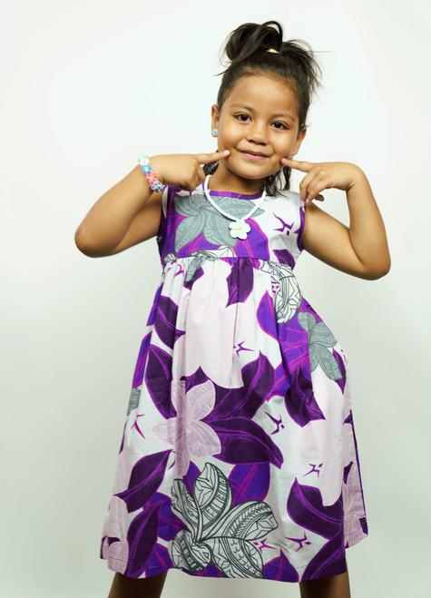 Galu Girls Plumeria Purple