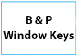 B & P Window handle keys