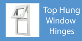 Top hung window hinges