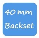 GU 40mm Backset