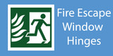 Fire Escape / Easy Clean window hinges