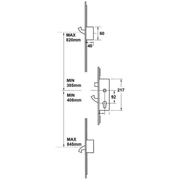 Yale Doormaster British Standard - YADMBS45TIM