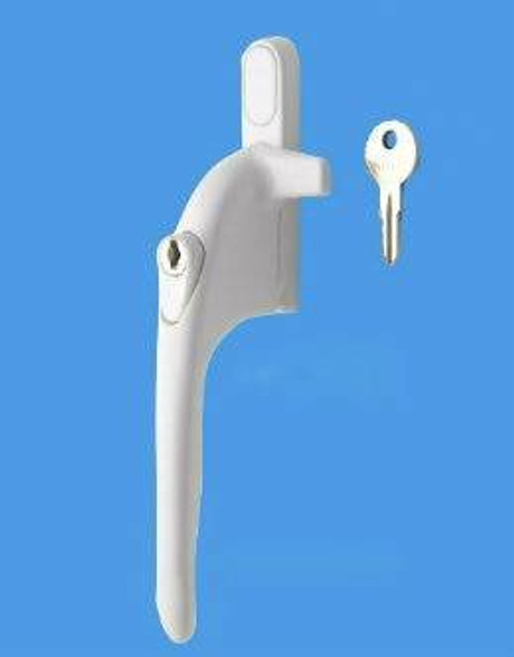 Securistyle Virage Cockspur Window Handle in White
