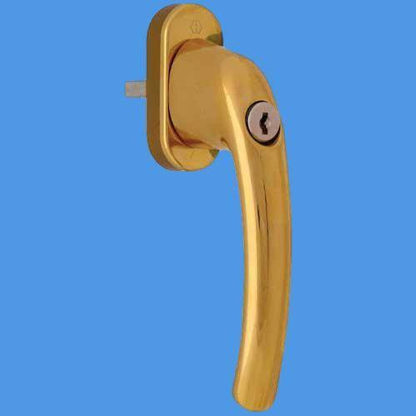 Hoppe Tokyo Locking Tilt and Turn Handle In Gold