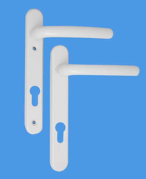 Windsor Alton UPVC Door Handles - 92mm centre, 122mm screws, Lever/Lever in White
