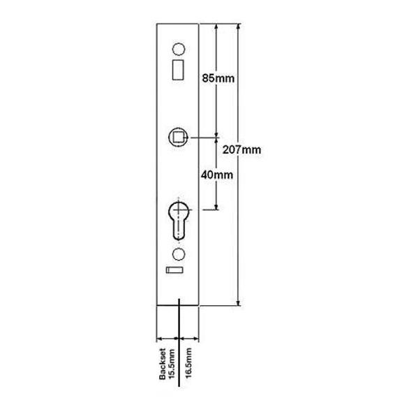 Schlegel Patio Door Lock Case - SCHLEGEL24