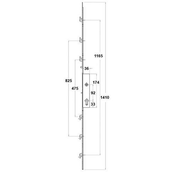 Fearless Patio Door Lock with 6 Hooks - FEAR6H20