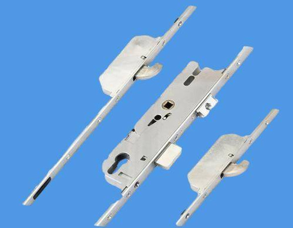 GU Multipoint NEW Style, 2 Hooks, Split Spindle S/S, 16mm Faceplate, 45mm Backset