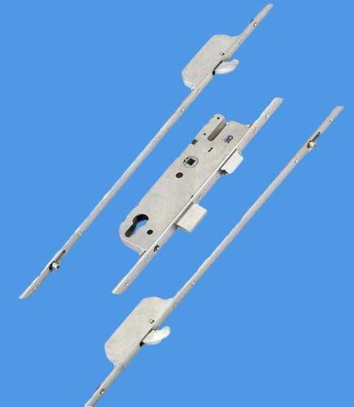 GU Europa NL Multipoint, 2 Hooks and 2 Inboard Rollers, Split Spindle S/S 35mm backset