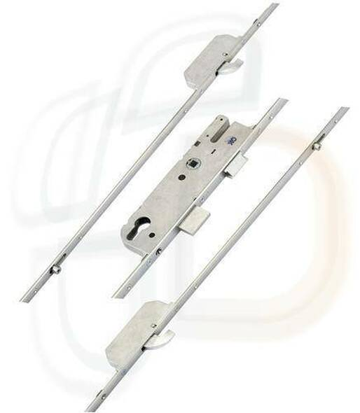 GU Europa Multipoint 2 Hooks, 2 Inboard Rollers, Lift Lever L/L, 35mm Backset