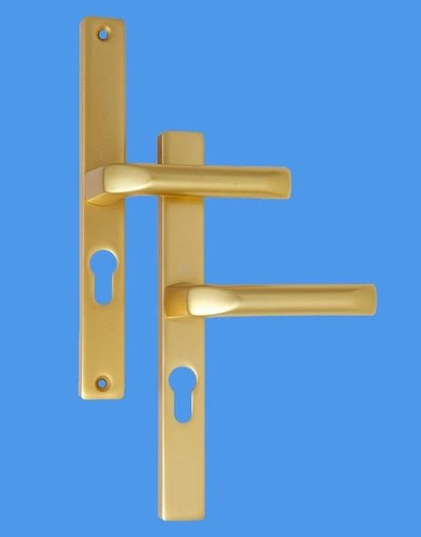 Hoppe 48mm UPVC Door Handles, 48mm centre, 215 screws, Lever/Lever in Anodised Gold
