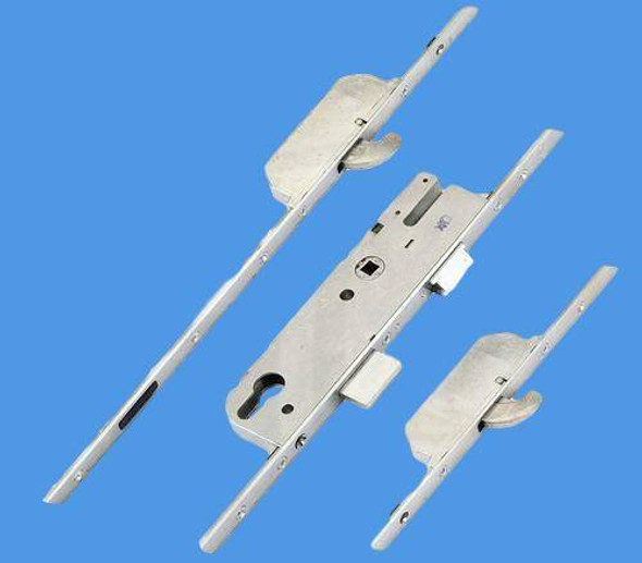 GU Europa Multipoint, 2 Hooks, 20mm Faceplate, Lift Lever L/L, 45mm Backset