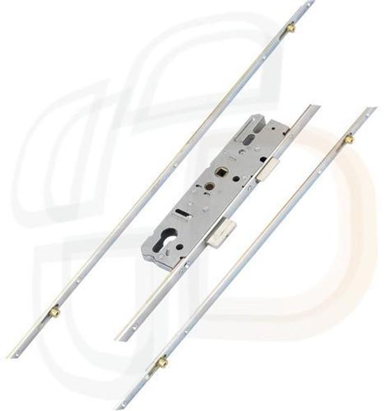 KFV Multipoint, 4 Rollers, Lift Lever L/L, Flat 16mm Faceplate, 35mm Backset