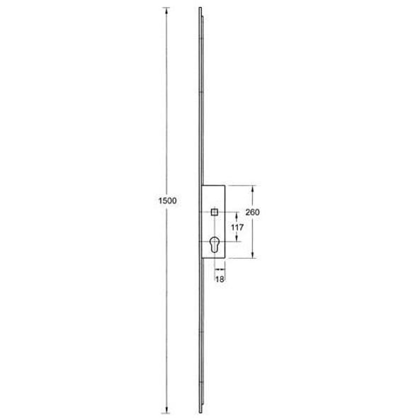 Millenco Mantis 1 Slave Lock, 117mm Centres - MILLSLAVE