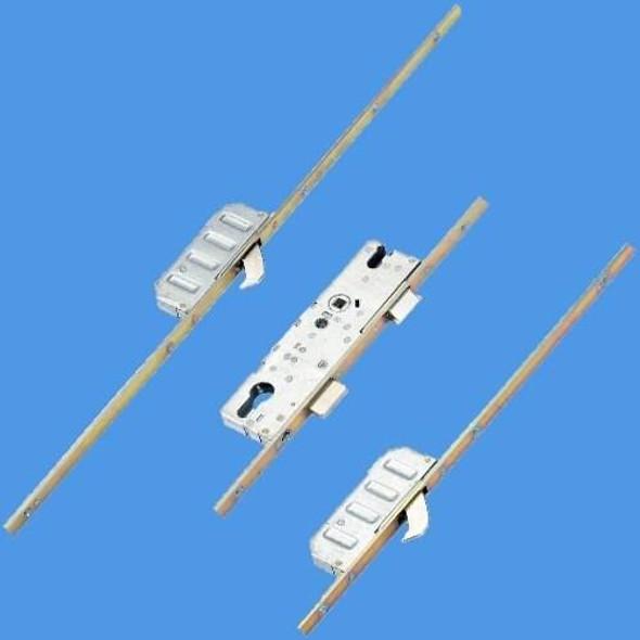 Winkhaus Cobra Latch, Deadbolt and 2 Hooks, Short version 1340mm - 16mm Faceplate - 2947311