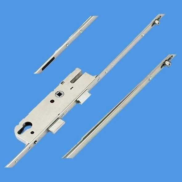 GU Latch, Deadbolt, 2 Rollers and Attachments for Shootbolts , Lift lever L/L - G18203