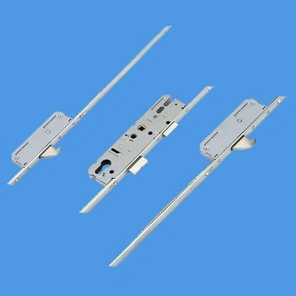 KFV Latch, Deadbolt, 2 Hooks and Attachments for Shootbolts, Lift lever L/L - AS7970